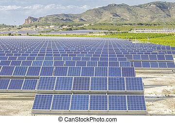 vernieuwbare energie, energy-, zonne