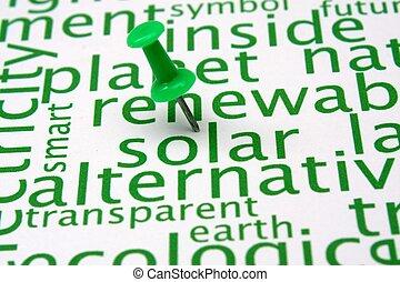vernieuwbare energie, woord, wolk