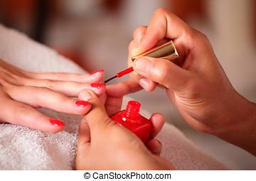 vernis à ongles, demande