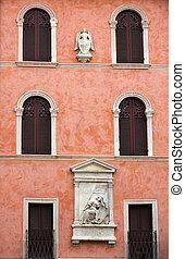 Verona - Casa della Pieta on Piazza dei Signori the civic...