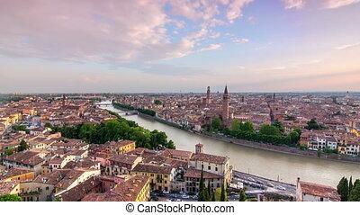 verona skyline cityscape sunset - verona skyline at the...