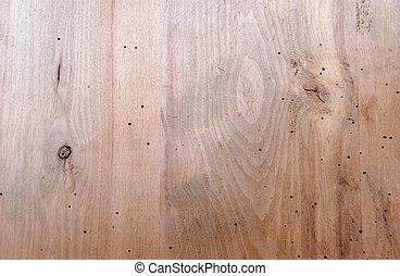 verontruste, hout, natuurlijke