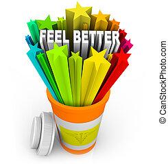 verordnung, krankheit, fühlen, -, besser, schläge, ...