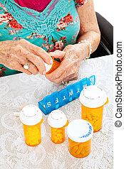 verordnung, pillen, für, der, woche