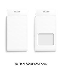 verpackung, weißes, box., papier