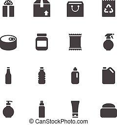 verpakken, iconen