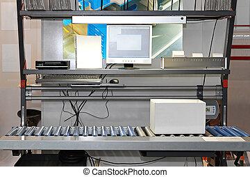 verpakking, systemen, conveyor