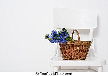 verpakte, bloemen, cadeau