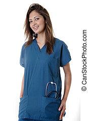 verpleegkundige, vriendelijk