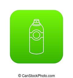 verpulveren, deodorant, groene, pictogram