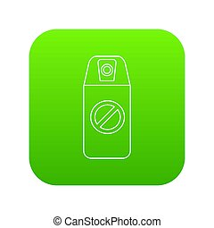 verpulveren, groene, mug, pictogram