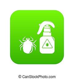 verpulveren, groene, pictogram