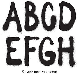 verpulveren, (part, 1), lettertype, verf , graffiti