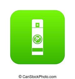 verpulveren, pictogram, groene, mug, digitale