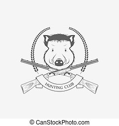 verrat, club, fusils, chasse