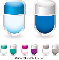 verre, étiquette, icône