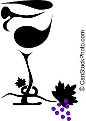 verre, abstact, vin