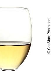 verre, affichage gros plan, vin blanc