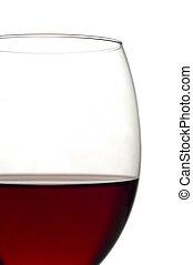 verre, affichage gros plan, vin rouge