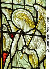 verre, ange, fenêtre, taché, gabriel