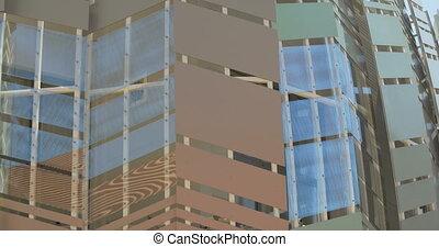verre, architectural, métal, modèle