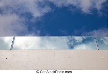 verre, balcon