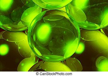 verre, balles, light., bw