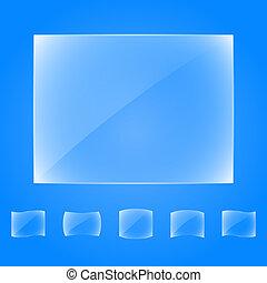 verre, bannières, transparent
