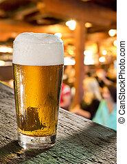 verre, bière, pub