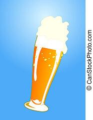 verre, bière, savoureux