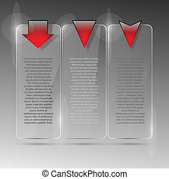 verre, billboard., vecteur, illustration., eps10