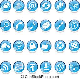 verre bleu, icônes toile