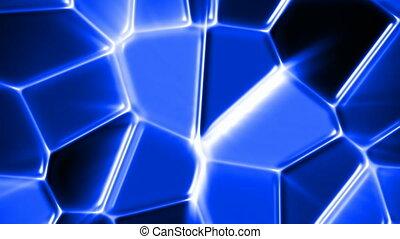 verre bleu, mosaïque