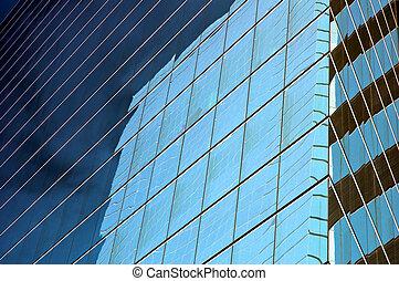 verre bleu, panneaux