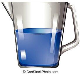 verre bleu, substance, gobelet