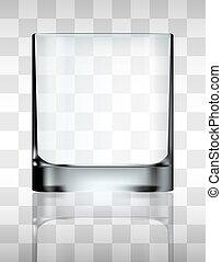 verre, boire, vecteur, transparent, vide