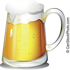 verre, boisson froide, alcoolique