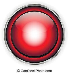 verre, bouton, rouges
