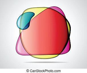 verre, bulles, coloré