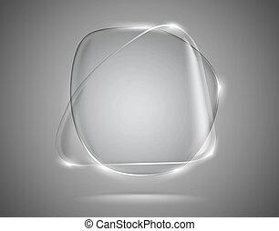 verre, bulles, lightened, parole, bords