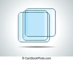 verre, carrés