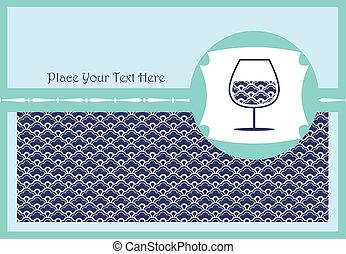 verre, carte, vin