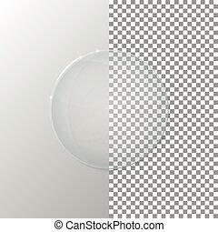 verre, cercle, vecteur, transparent, illustration