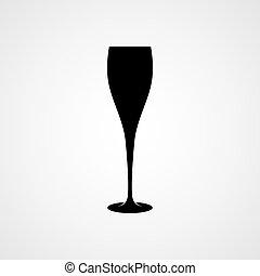 verre, champagne, icône