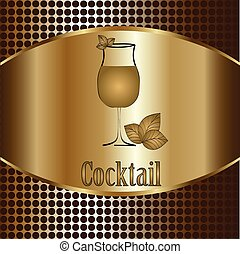 verre cocktail, menu, arrière-plan., vecteur, conception