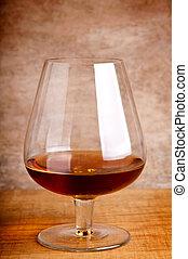 verre, cognac