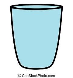 verre cristal, vide, icône