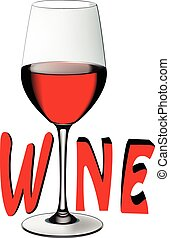 verre cristal, vin