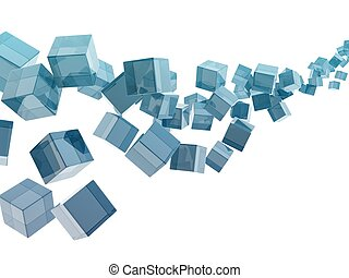verre, cubes