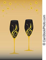 verre, deux, vin